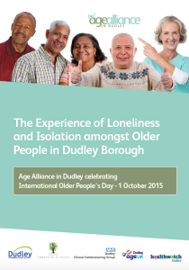 Age Alliance Experience of loneliness and isolation amongst older people in Dudley borough report cover