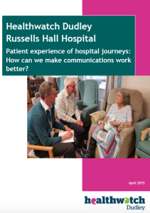 Patient Experience of Hospital Journeys - How Can We Make Communications Work Better? - Front cover