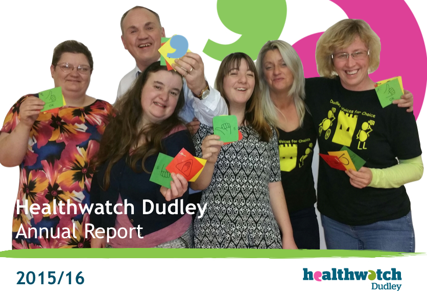 Healthwatch Dudley Annual report 2015-16 Cover