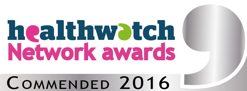Healthwatch Network Awards badge commended