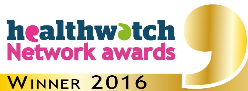 Healthwatch Network Awards badge