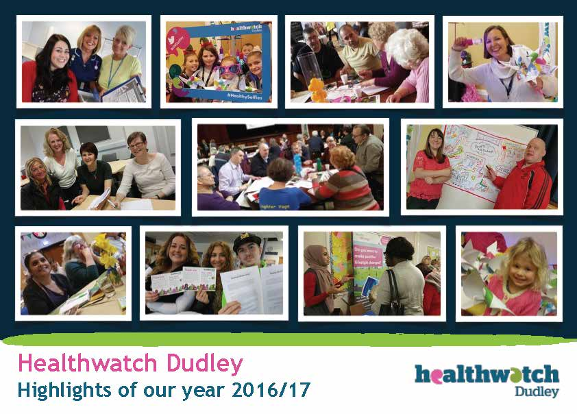 Healthwatch Dudley Annual report 2016-17 cover