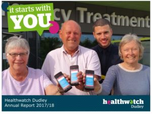 Healthwatch Dudley Annual Report Cover